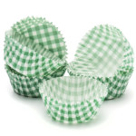 45mm X 25mm Green Check Queen Cake Cases (500)