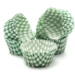 50mmx38mm Green Check Muffin Cases (500)