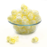 Clover Hill Wafer Roses Med Yellow (100 pieces)