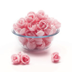 Clover Hill Wafer Roses Med Pink (100 pieces)