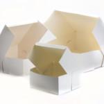 """White Cake Flats (Box) 8"""" X 8"""" X 4"""" (250)"""