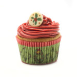 Christmas Wreath Queen Cakes Cases 45 x 25mm (500)