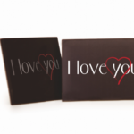 Dark Chocolate Love Plaque (84) 45mm x 35mm