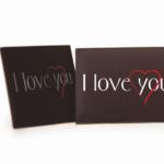 Dark Chocolate Love Plaque (84) 45mm x 35mm