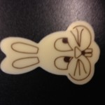 Easter Bunny White Chocolate (140 pack) 26mm x 41mm