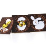 Easter Chocolate Shield (126 pack) 30mm x 30mm