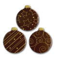 Dark Chocolate Christmas Baubles 39mm x 45mm (72)