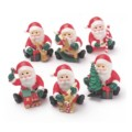 Plastic Santa with Toys (6 pack)