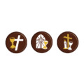 Religious Chocolate Plaque Assortment 30mm