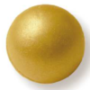 3D Metallic Gold (White Chocolate) Ball 20mm (66)