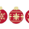 White Chocolate Baubles 30mm x 25mm (135)
