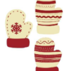 White Chocolate Mittens 25mm x 35.5mm (96)