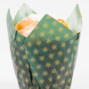 Green/Gold Tulip Cup 160 x 160 x 50mm (1000pk)