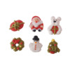 2D Sugar Christmas Figures - Style A 20mm (6pk) 360