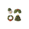 2D Sugar Christmas Figures - Style B 20mm (4pk) 320