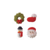 2D Sugar Christmas Figures - Style C 20mm (4pk) 288