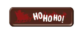 "Dark Chocolate ""Ho Ho Ho"" Strip 40mm x 12mm (198pk)"