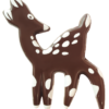 Dark Chocolate Deer 70mm x 54mm (30)