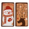 Dark Chocolate Christmas Plaques 54mm x 29mm (2pk) (60)