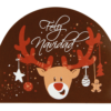 Dark Chocolate 'Merry Christmas' Plaque 68mm x 85mm (42)