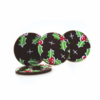 Dark Chocolate Holly Discs 25mm (495)