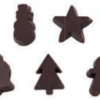 3D Dark Chocolate Christmas Designs 13mm (5pk) 8kg (2500 pieces/kg)