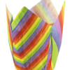 Rainbow Stripe Tulip Cups 50/160 x 160mm (100)
