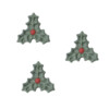 Triple Leaf Sugar Christmas Holly 25mm (370)