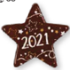 Dark Chocolate 2021 Star 40mm (84)